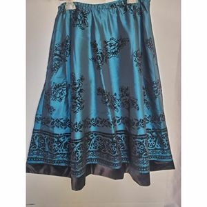 Coldwater  creek floral  skirt womens size m 10_12